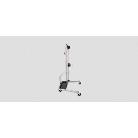 ULTRA VISION' Stainless Stand-No Fixture-Incl.collar & 4 locking wheels-battery tray extra