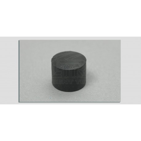 "Large black neoprene softip screw-on cap - 3/4"", 10-32 thread"