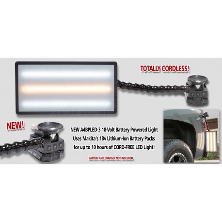 "14"" Ultra Cordless 18V Mini 3-strip LED Light w/3"" Pump up suction cup and Loc-Line"