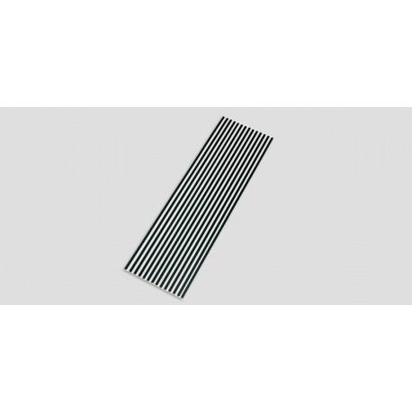 "24'"" A4BAC/DC/LED White & black STRIPED lens cover"