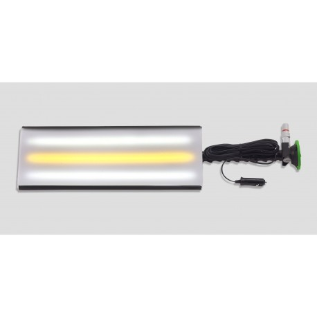 "18"" 'Ultra mobile 12""V Aluminum Mini 3-strip LED Light w/3"" Pump up suction cup"