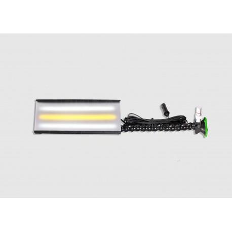 "12"" Ultra mobile mini - Aluminum 3 strip-LED light, 12volt, Loc-line w/3' suction cup, WHITE lens cover"