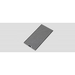 """12"""" A4C-LED White & black STRIPED lens cover"""