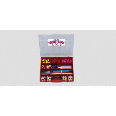 'ULTRA TIDDY TAB' KIT - 81 pc. asst. pull tabs & glue sticks