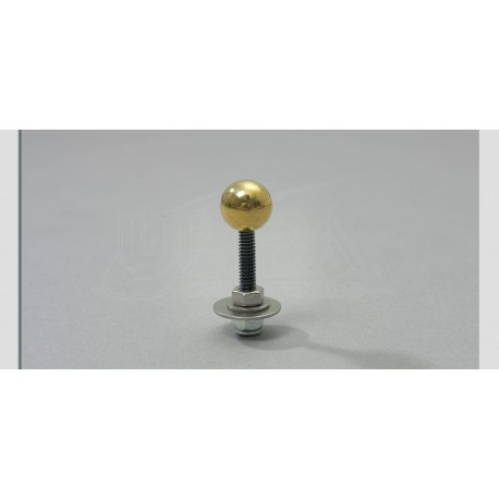 """3/4"""" Brass ball with 1/4-20 stud"""
