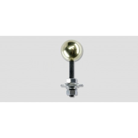 "1"" Brass ball with 1/4-20 x 1-1/2"" stud"